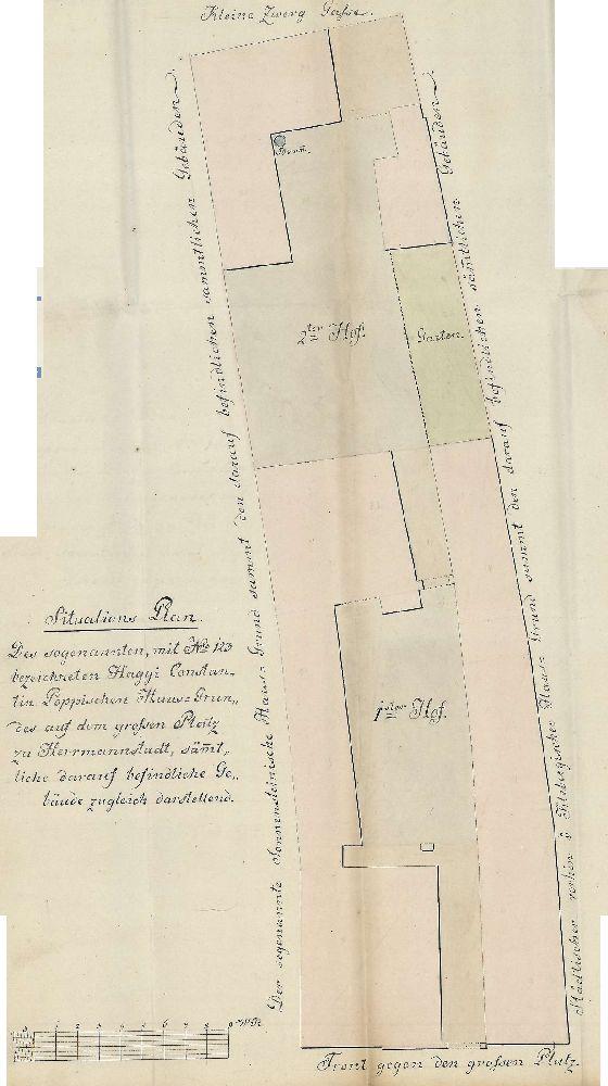 Plan de asezare 1824