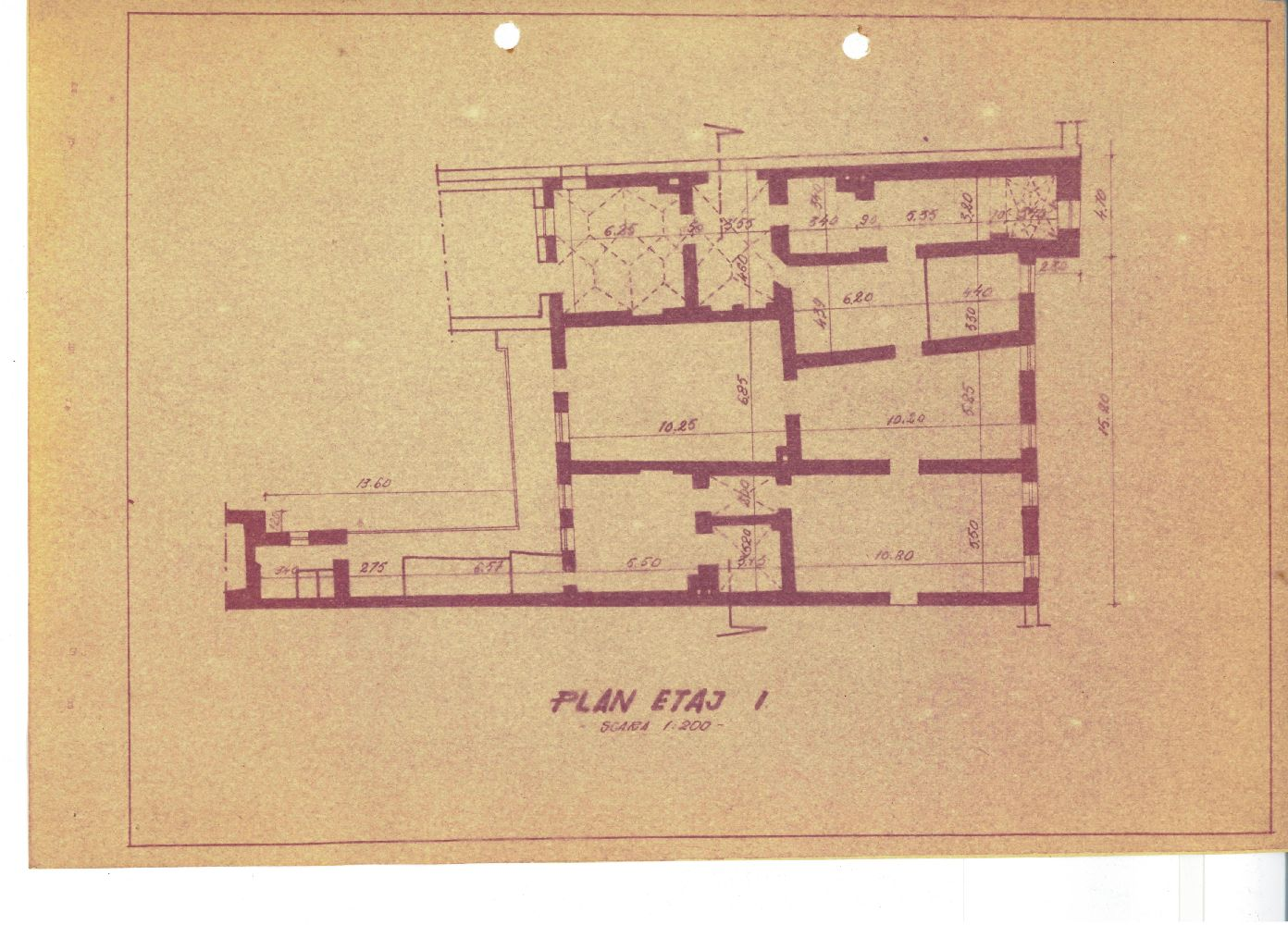 Plan etajul I, perioada interbelica