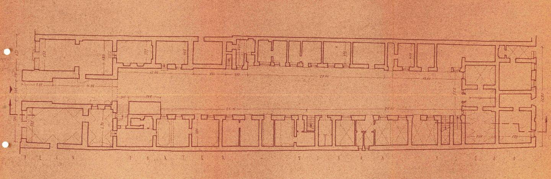 Planul cladirii, perioada interbelica