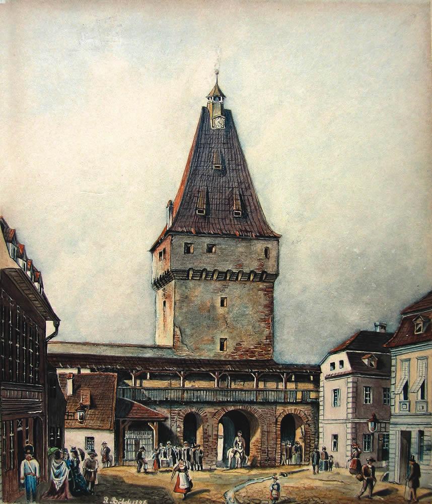 Poarta Cisnadiei, 1846, J. Böbel