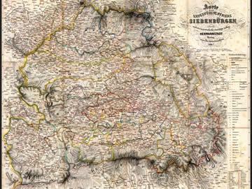 Harta Transilvania 1862